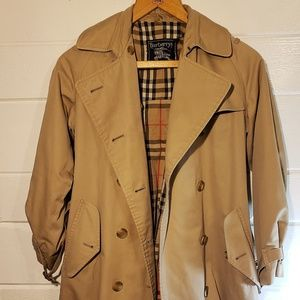 Womens Burberry London Belted Trench Overcoat SZ6
